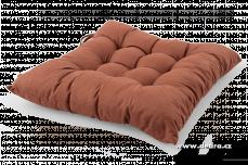Zvětšit fotografii - Sedák prošívaný na židle a křesla polstrovaný hnědý