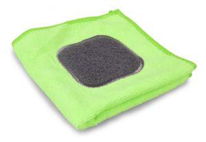 ABRAsive&MICro 2v 1 utěrka z jemného mikrovlákna s abrasivním obdélníkem