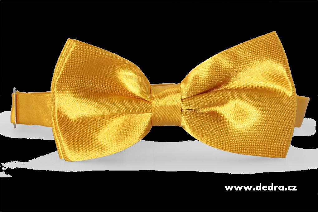 Saténový motýlek žlutý