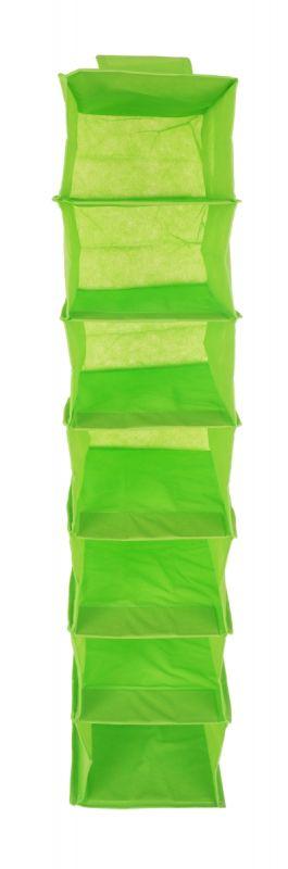 Závěsný úložný díl/organizér na oblečení zelený