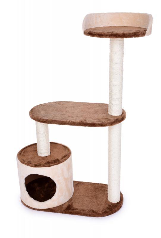 Kočičíškrabadlo/prolézečka ve smetanově čokoládové barvě