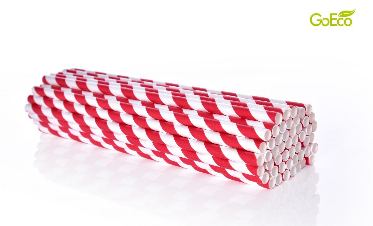 Papírová brčka 50 ks kompostovatelná