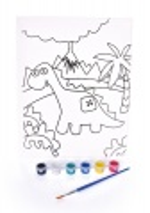"Obrázek ""vymaluj si sám"" brontosaurus, 24 x 30 cm"