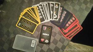 Karty na PRŠÍ, MARIÁŠ,OKO BERE a další hry 32 karet v plastové krabičce