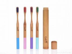 Zubní kartáček GoEco® BAMBOO z bambusu s velmi měkkými štětinkami