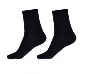 Komfortní zdravotní ponožky, černé