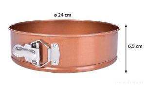 DORTOVÁ ROZKLÁDACÍ forma ø 24 cm BIOPAN® GOLD výška 6,5 cm