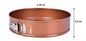 DORTOVÁ ROZKLÁDACÍ forma ø 28 cm BIOPAN® GOLD výška 6,5 cm