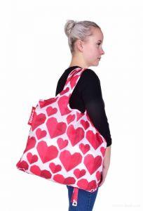 Nákupní skládací taška k opakovanému použití, CITYBAG SRDCE