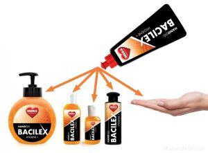 Náplň - čisticí gel na ruce s vysokým obsahem alkoholu, 500 ml, HANDGEL BACILEX HYGIENE+