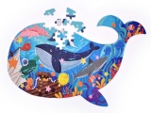 108 ks PUZZLE OCEÁN ve tvaru velryby