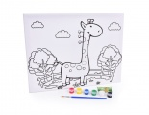 """Obrázek na rámu """"vymaluj si  sám""""  žirafa, 30 x 40 cm"""