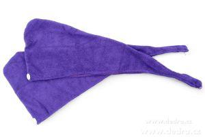 2 ks turban na vysoušení vlasů levandulový
