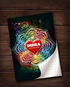 Poznámkový blok/zápisník Dedra Mandala A5 vhodný na zapisování objednávek, 50 listů