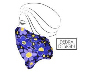 Multifunkční šátek fialové DAISY FLOWERS