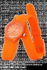 Hodinky se silikon. páskem oranžové