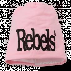 REBELS čepice obvod 54 cm pink s černým
