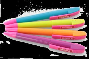 4 ks - propisovačka s logem DEDRA.CZ multicolor