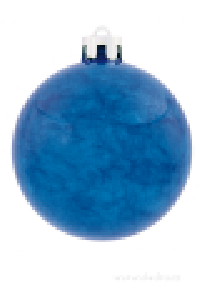 8 vánočních kouliček s mramor. finišem modré