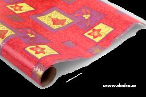 Vánoční balicí papír červený