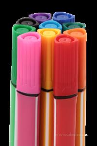 Tlusté trojhranné fixy, 10 barev