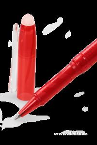 GUMOVATELNÉ kuličkové pero červené