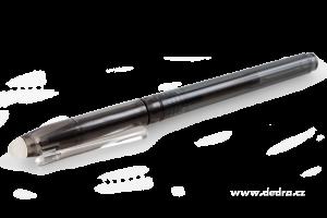 GUMOVATELNÉ kuličkové pero černé