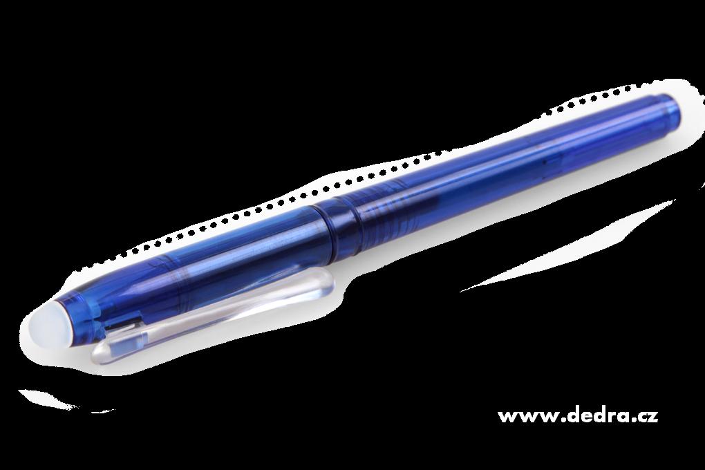 GUMOVATELNÉ kuličkové pero modré