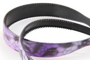 2ks čelenek do vlasů fialovo-černé stíny š.: 2,5 cm + 1,5 cm