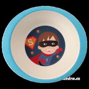 3 dílná jídelní sada pro děti - super boy GoEco Bamboo sada