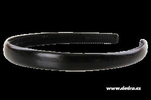 Čelenka do vlasů potaž. lesk. ekokůží černá,š.: 1,5 cm