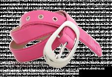 Dámský pásek růžový lesklý délka: 125 cm