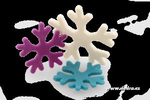 Velké sněhové vločky sada 2 ks tvořítek