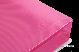 Spisové desky z průhledného plastu růžové
