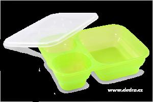 3in1 box zelený dóza na potraviny 1000 + 250 + 250 ml