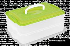 Buchtonoš 2x 3500 ml box na potraviny zelený