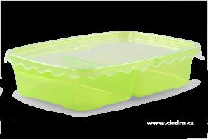 Duobox 500ml+300ml dóza na potraviny zelený