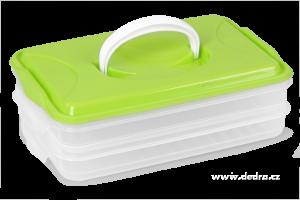 Duonoš 2x 800 ml box na potraviny 2 patrový zelený