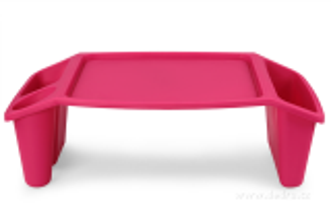 Gaučostolek & postelostolek růžový přenosný stolek