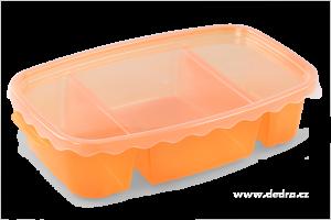 Triobox oranžový dóza na potraviny 800 + 300 + 300 ml