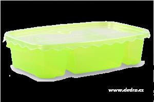 Triobox zelený dóza na potraviny 800 + 300 + 300 ml