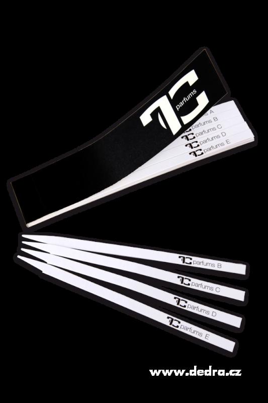 50 testovacích absorpčních proužků na vzorky vůní