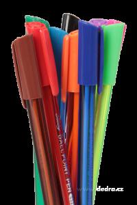 Sada barevných kuličkových per, 10 ks