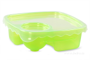 Duobox 500ml+100ml dóza na potraviny zelený