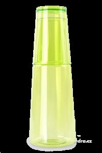 XL karafa s kelímkem jasně zelená