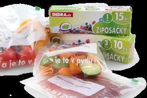 Potravinové sáčky se zipem 10 ks