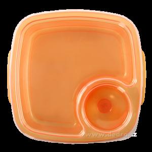 Duobox 500ml+100ml dóza na potraviny oranžový