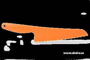 Velký plastový nůž na saláty a těsta oranžový