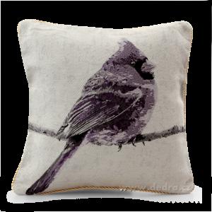 GOBELINO potah na polštář violet bird