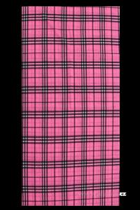 Multifunkční šátek kostkatý, červený